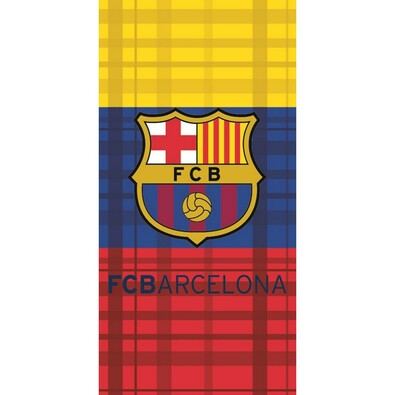 Osuška FC Barcelona tricolora, 75 x 150 cm