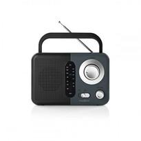 Nedis FM Rádio 2,4 W, čierna