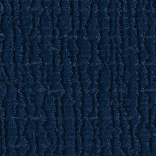 Multielastický poťah na taburetku Cagliari modrá, 40 - 60 cm