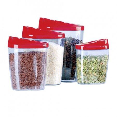 4 részes tárolódoboz készlet adagoló nyílással