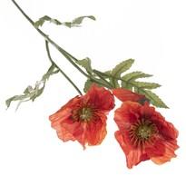 Umelá kvetina Vlčí mak, 65 cm, červená