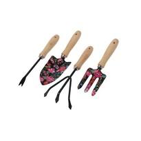 Set scule de grădinărit Flower Tools, negru, 4 buc.