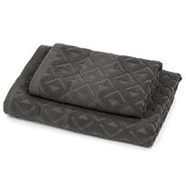 Zestaw Rio ręcznik i ręcznik kąpielowy ciemnoszary, 50 x 100 cm, 70 x 140 cm