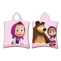 Poncho copii Jerry Fabrics Masha și Ursul, 50 x 115 cm