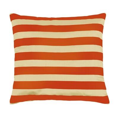 Polštářek Leona pruhy oranžová, 45 x 45 cm