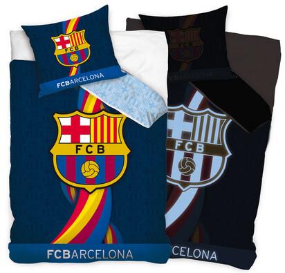 Bavlněné povlečení FC Barcelona, 140 x 200, 70 x 80 cm