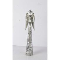 Kovový anjel s čipkovanou sukňou na čajovú sviečku