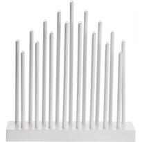 Sfeşnic de masă Pipes, alb, 17 LED