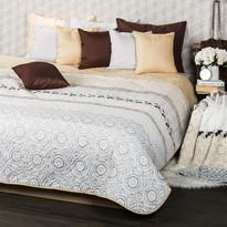 Cuvertură de pat 4Home Circles, bej, 220 x 240 cm