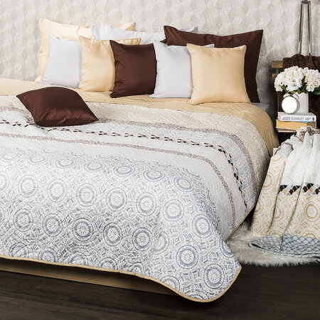 4Home Circles ágytakaró, bézs, 220 x 240 cm