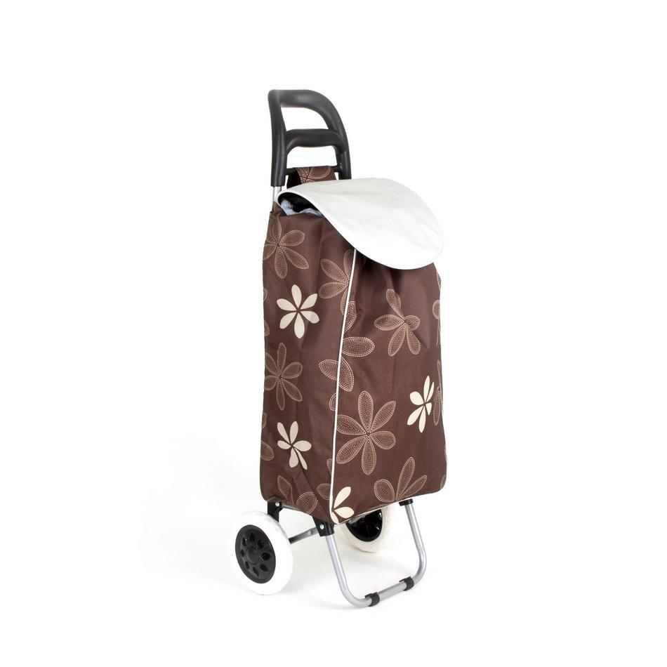 Brilanz Nákupná taška na kolieskach CARRIE, tmavohnedá