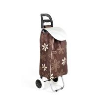 Nákupná taška na kolieskach CARRIE, hnedá