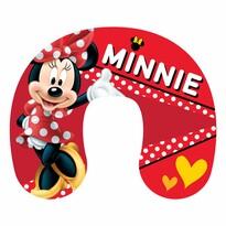 Poduszka podróżna Minnie red, 40 x 40 cm