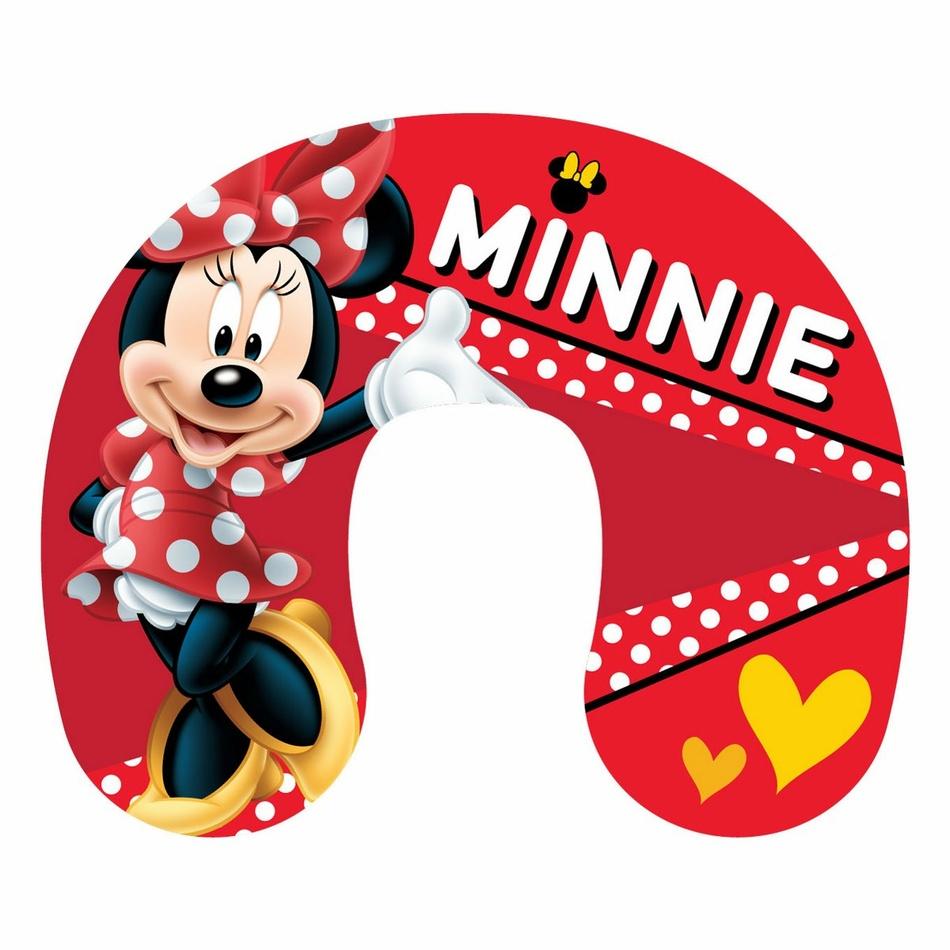 Jerry Fabrics Cestovní polštářek Minnie red, 40 x 40 cm