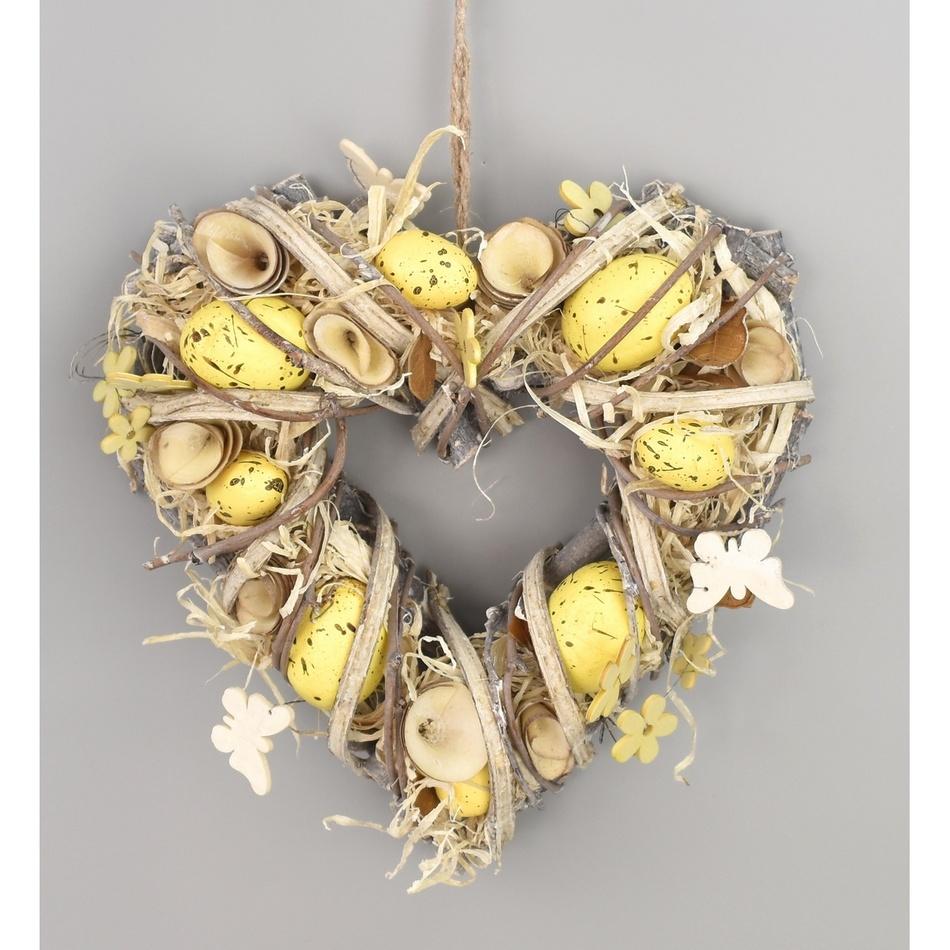 Velikonoční srdce Easter, 24 cm
