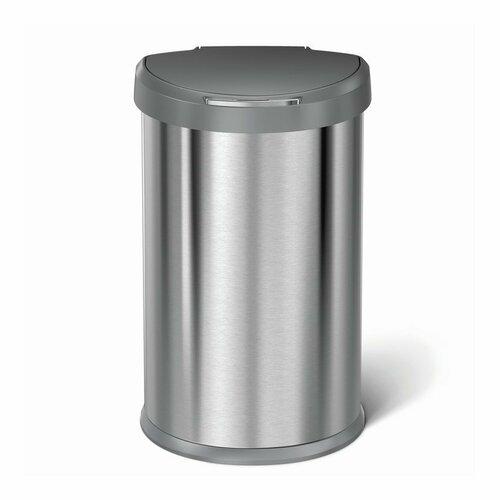Simplehuman Bezdotykový odpadkový půlkulatý koš 45 l, nerez
