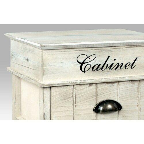 Drevená komoda s 3 zásuvkami Cabinet, sivá