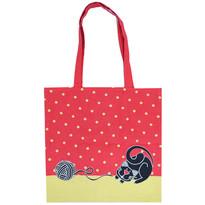 Nákupní taška Kočka červená, 40 x 42 cm
