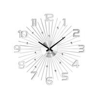 Zegar ścienny Lavvu Crystal Sun LCT1150 srebrny, śr. 49 cm