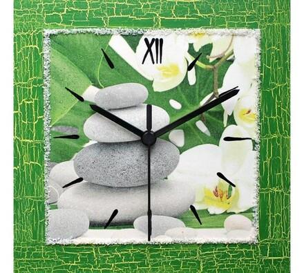 Nástěnné hodiny Kameny Feng Shui