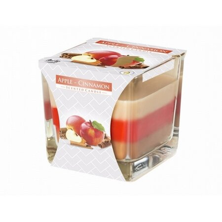 Sviečka v skle Dúha Jablko a škorica, 170 g