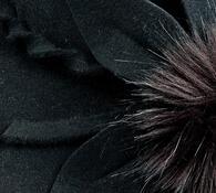 Dámský klobouk Karpet 1153, černý, 57 / 58