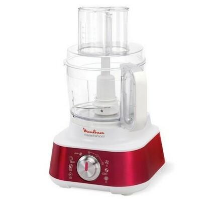 Kuchyňský robot, Masterchef 8000, Moulinex, bílá + červená