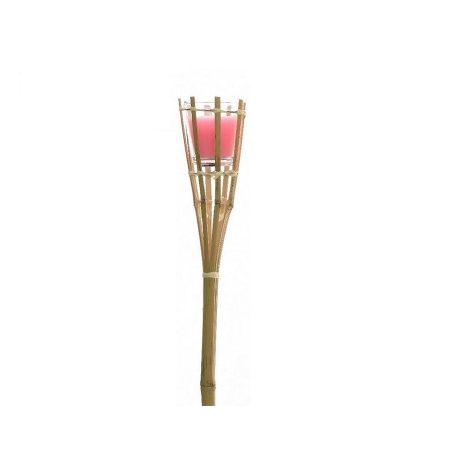 Zahradní louče Citronella, růžová