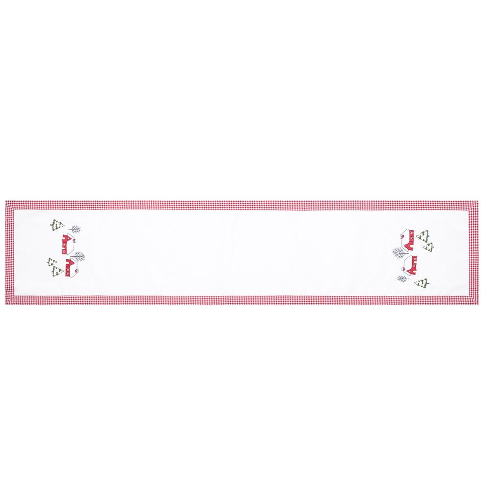 Forbyt Vánoční ubrus Chaloupky, 35 x 160 cm, 35 x 160 cm