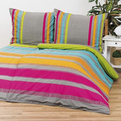 Bavlněné povlečení Elle oranžová, 220 x 200 cm, 2 ks 70 x 90 cm