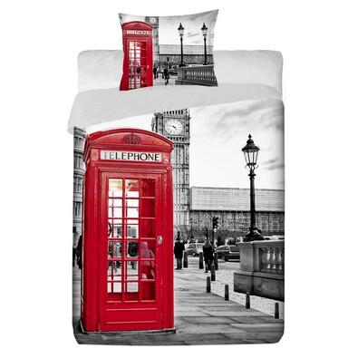 Bavlněné povlečení Londýn, 140 x 200 cm, 70 x 90 cm