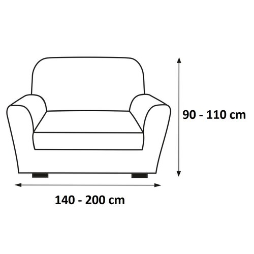Husă elastică de canapea Petra, bej, 140 - 200 cm