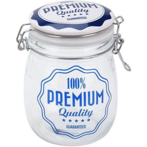 Sklenice s víkem Premium Quality 1 l