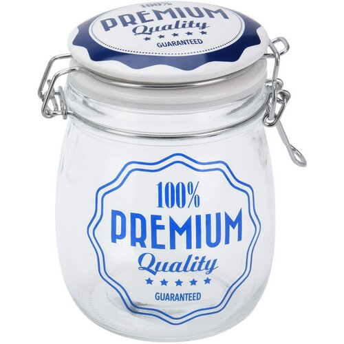 Sklenice s víkem Premium Quality 700 ml