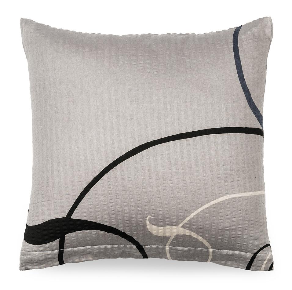 Jahu Obliečka na vankúš krepový satén Delissia gray, 40 x 40 cm