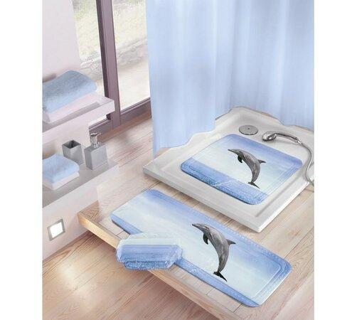 Kleine Wolke podložka Delfin modrá, 55 x 55 cm