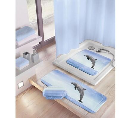 Kleine Wolke protiskluzová podložka Delfin modrá, 36 x 92 cm