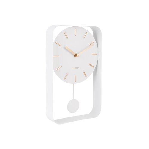 Karlsson KA5796WH Dizajnové kyvadlové nástenné hodiny, 33 cm