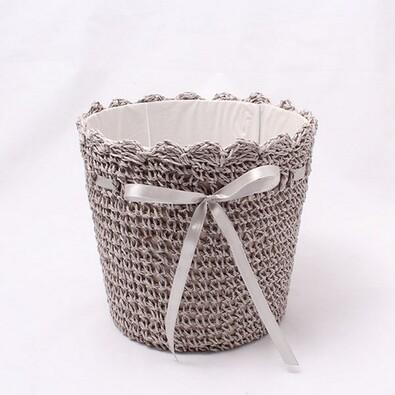Košík s mašličkou šedý