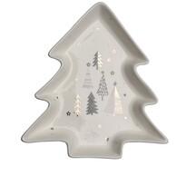 Altom Porcelánový servírovací tanierik Stromček Nordic Forest Trees 17,5 cm
