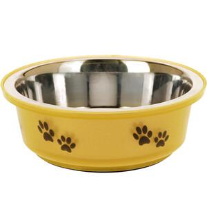 Miska pro psa žlutá, 400 ml