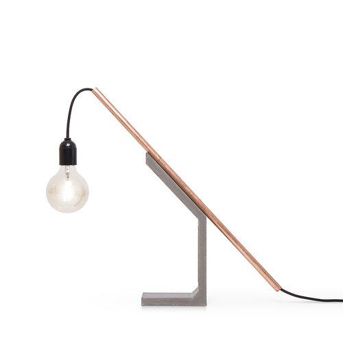 Mensch Made Stolná lampa Magno Tube 65 cm, sivá