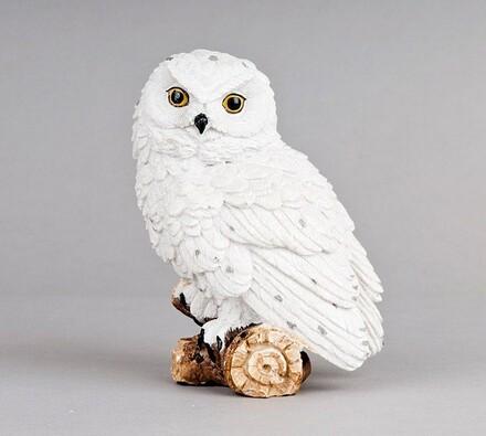 Dekorační bílá sova