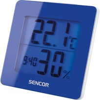 Sencor SWS 1500 BU Teploměr s hodinami