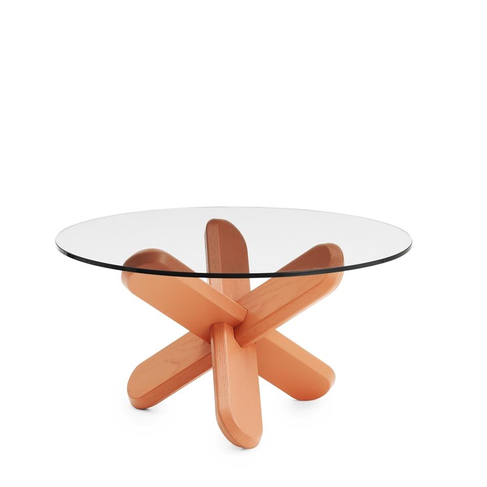 Normann Copenhagen Stôl Ding 40 cm, červený