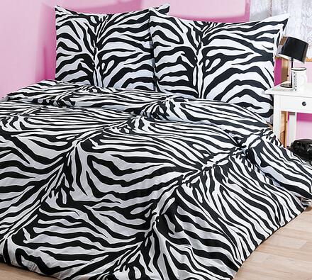 Bavlněné povlečení Zebra, 240 x 220 cm, 2 ks 70 x 90 cm