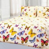 Bavlněné povlečení Motýli, 220 x 200 cm, 2 ks 70 x 90 cm