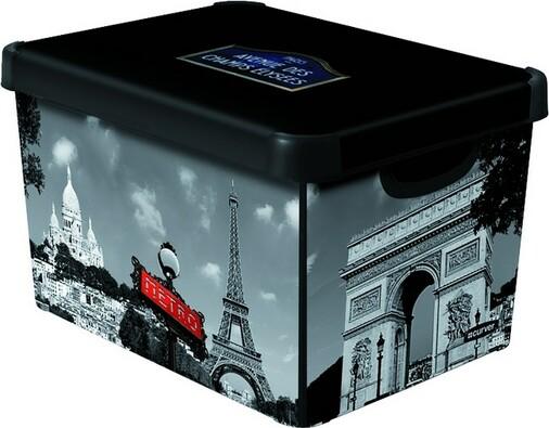 Dekorativní úložný box Curver PARIS, vícebarevná