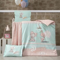 Detské bavlnené obliečky do postieľky Kitty, 100 x 135 cm, 40 x 60 cm