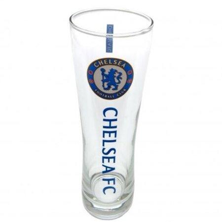 Sklenice FC Chelsea: Wordmark štíhlá (objem 470 ml) [DWEPPINTSLCHE] CurePink
